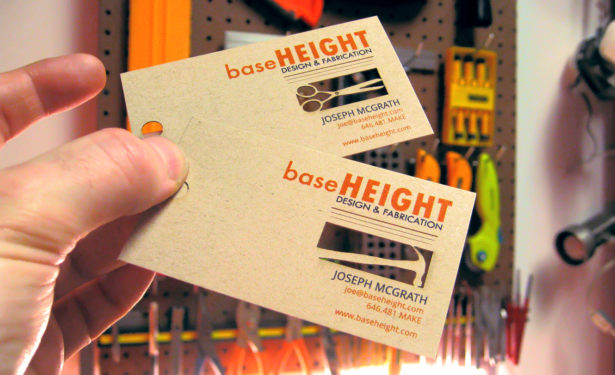 Baseheight Laser Cut Business Cards