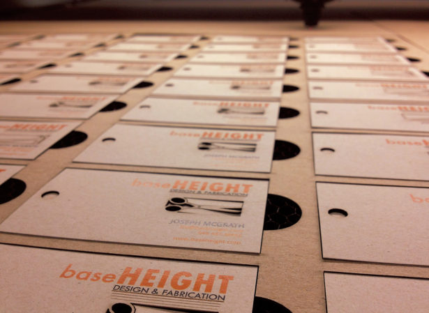 Laser Cutting Baseheight Business Cards