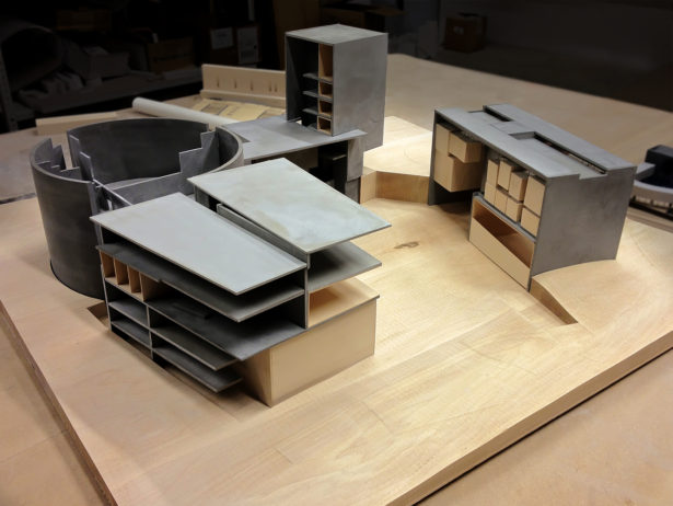 Basswood Architectural Landscape Model