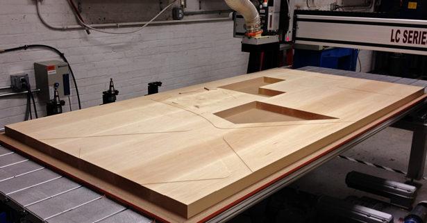 CNC Routing Basswood Architectural Landscape Model