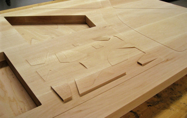 Detail from Basswood Architectural Landscape Model