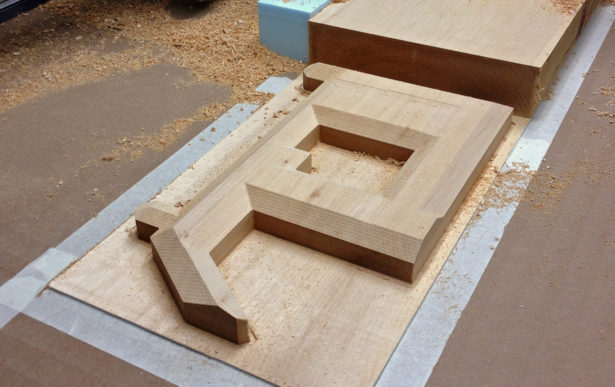 CNC Routing Basswood Architectural Model