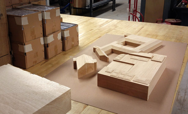 Solid Basswood Architectural Model