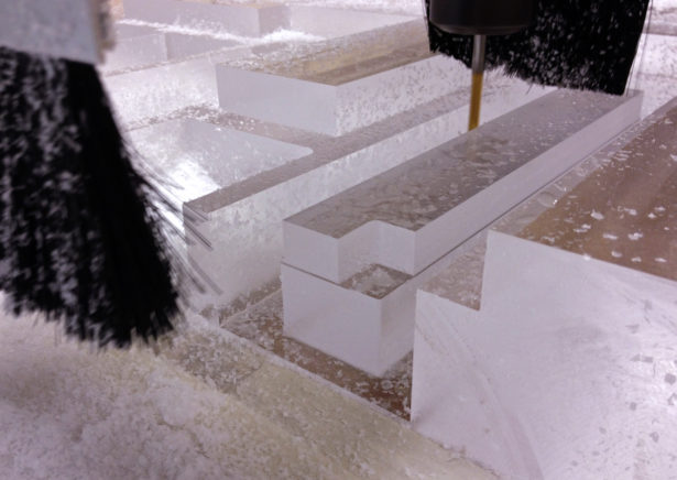 CNC Routing Parts for Acrylic Architectural Model