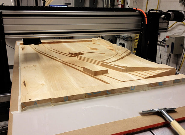CNC Routing Basswood Architectural Landscape Model