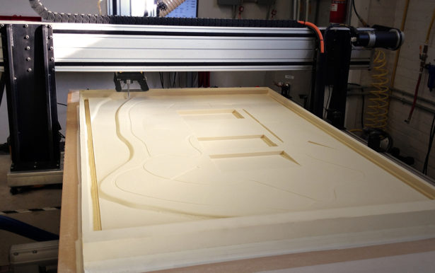 CNC Routing Foam for Architectural Site Model