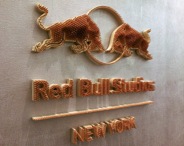Red Bull Pencil Sign from Baseheight