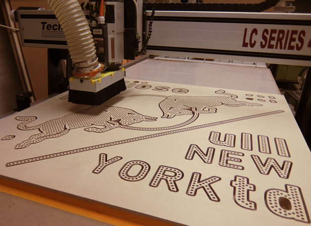 CNC Routing Red Bull Pencil Sign