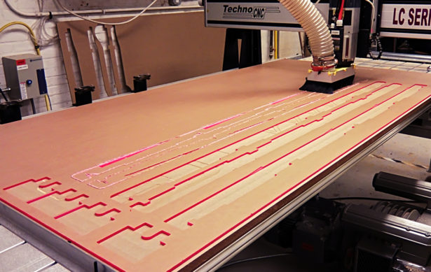 CNC Routing Acrylic for Core77 Truck Installation