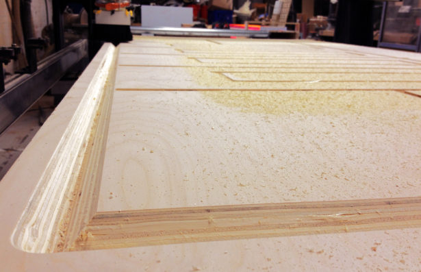 CNC Routing Plywood for Core77 Truck Installation