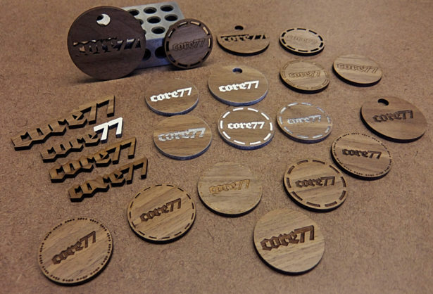 Poker Chip Prototypes for Core77 Conference