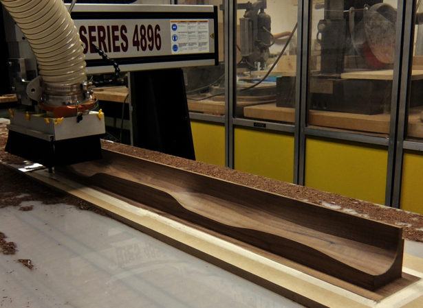 CNC Routing Walnut for Prototype