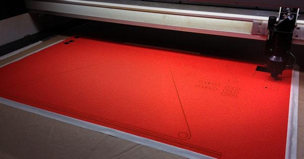 Laser Cutting Felt for Furniture Prototype