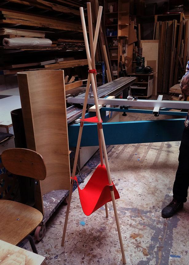 Laser Cut Felt for Furniture Prototype
