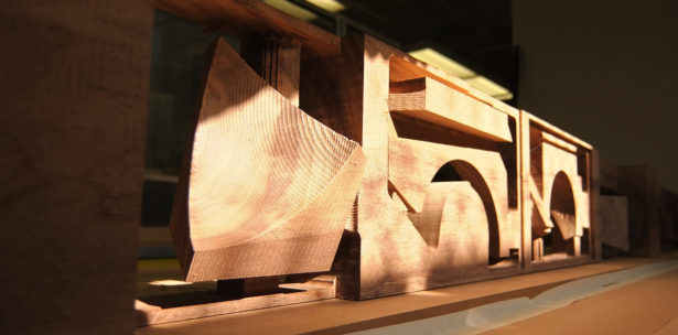 CNC Routing Parts for Solid Walnut Architectural Model
