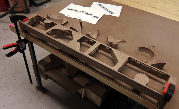 Finishing Walnut Parts for Architectural Model