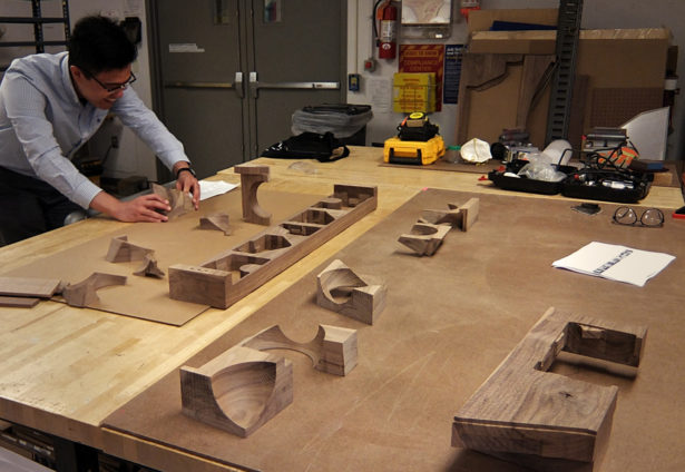 Solid Walnut Architectural Model