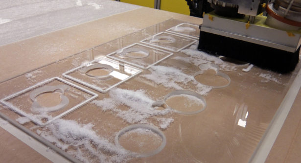 CNC Routing Acrylic for Architectural Model