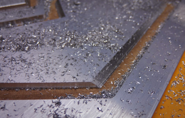 CNC Routing Aluminum Parts for Architectural Model