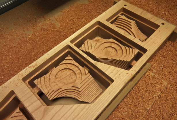 CNC Routing Solid Cherry Architectural Model