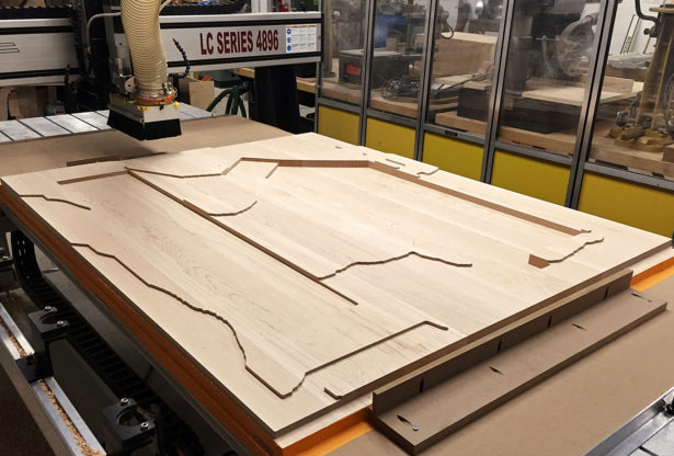 CNC Routing Maple for Architectural Landscape Model