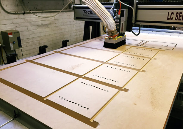 CNC Routing MDF Panels