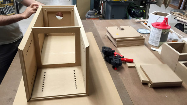 Assembly of MDF Panels