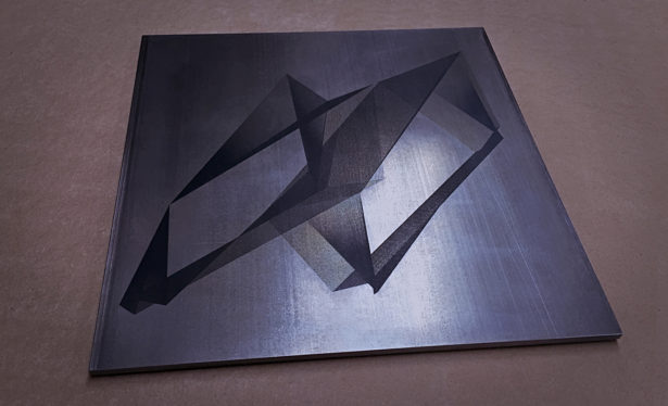 Laser Marked Steel Plate
