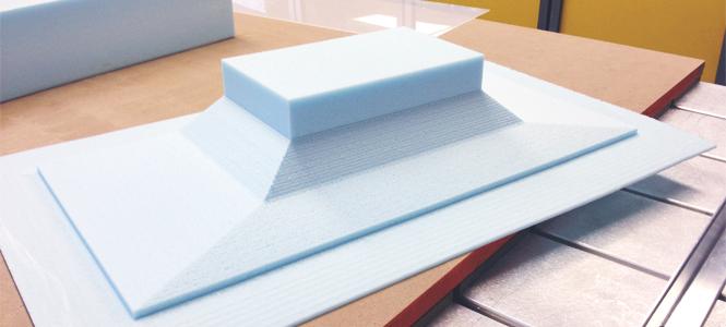CNC Foam Model for Cast Glass