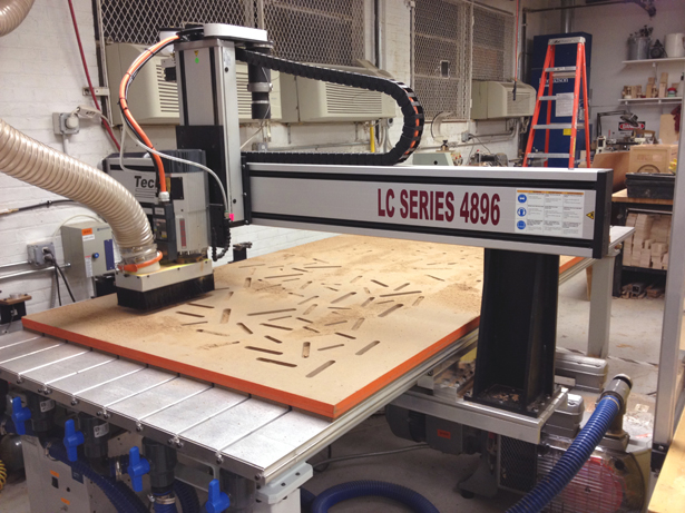 CNC Cutting the MDF