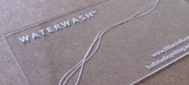 WATERWASH Business Cards