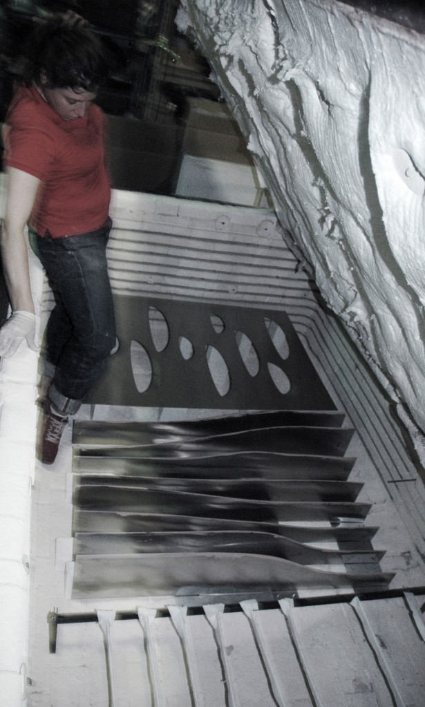 Slumped Glass Installation at Columbia University