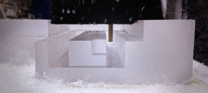CNC Routing Thick Acrylic Parts