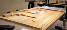 Kennedy Center Site Model in Basswood