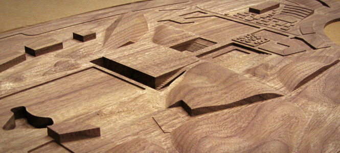 Walnut Site Model for Steven Holl