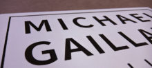 Michael Gaillard Studio Sign